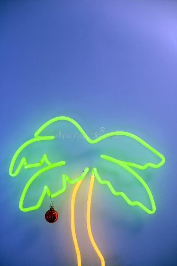 Palmier au néon image stock