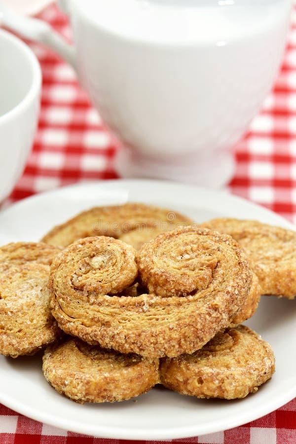 Palmier ciasta robić z przeliterowaną mąką obraz royalty free