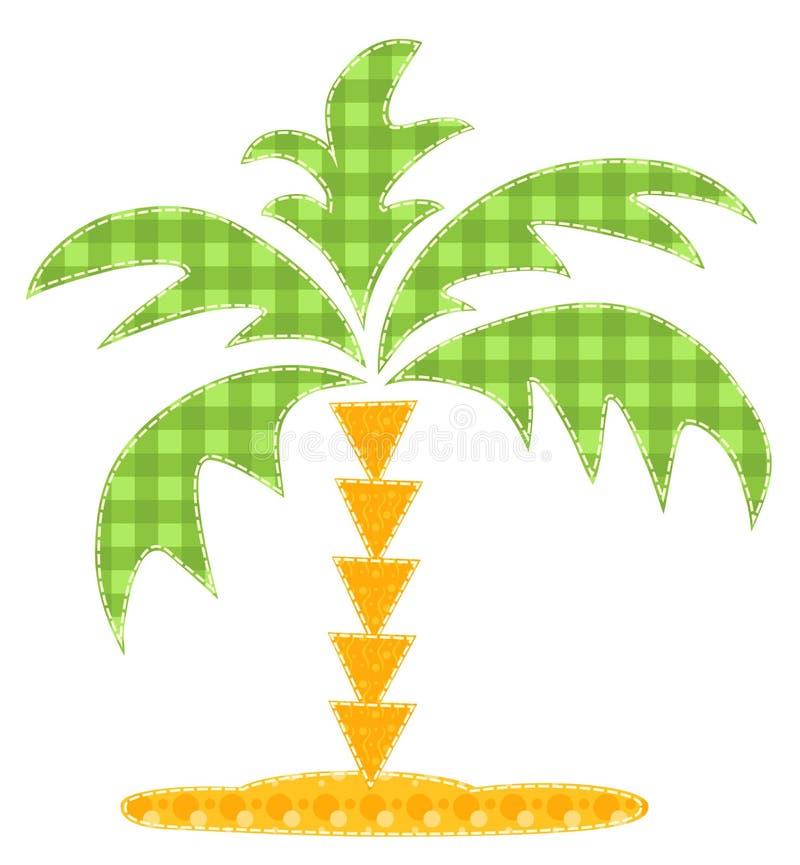 Palmier de rapiéçage. illustration libre de droits