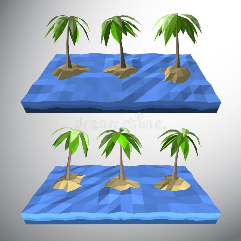 Palmier sur l'île isolée illustration libre de droits