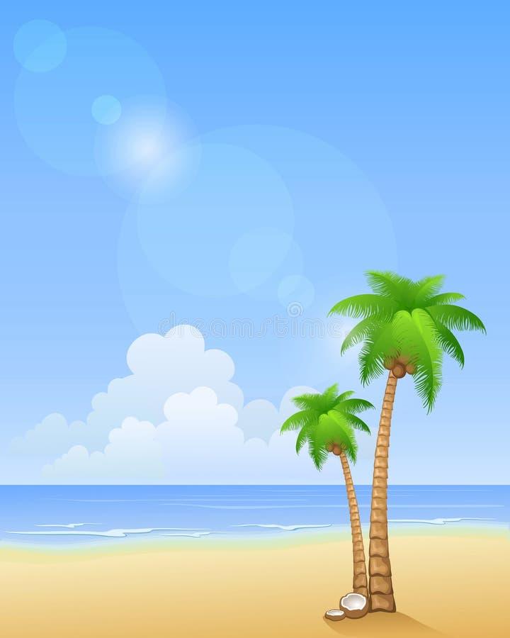Palmier sur une plage illustration stock