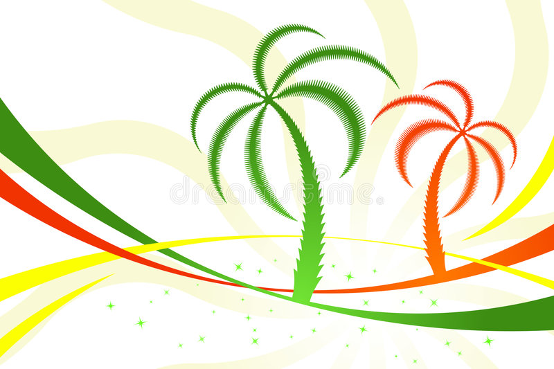 Palmiers illustration stock