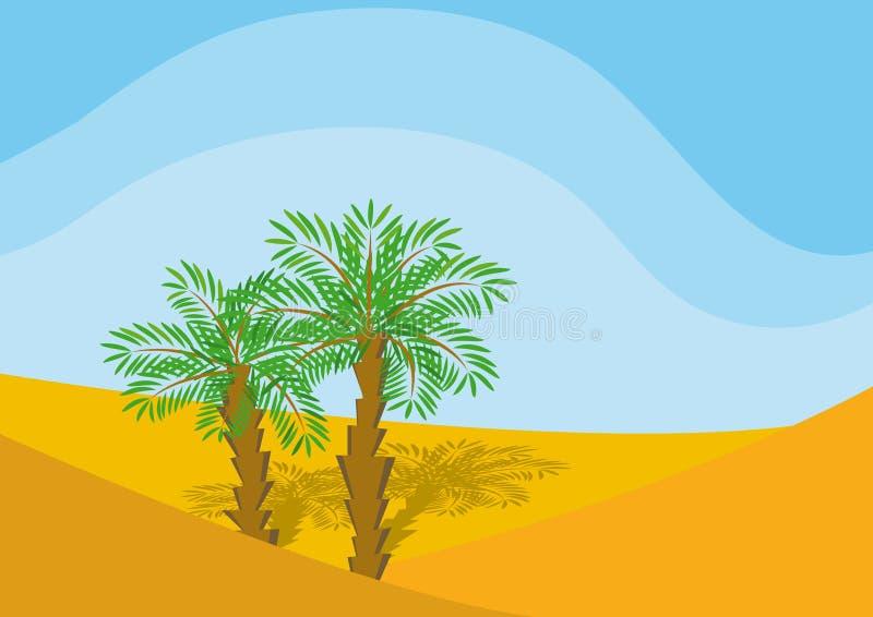 palmiers deux illustration libre de droits