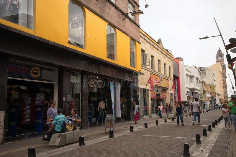 Palmira Colombia-Straßenansicht des zentralen Bereichs stockfoto