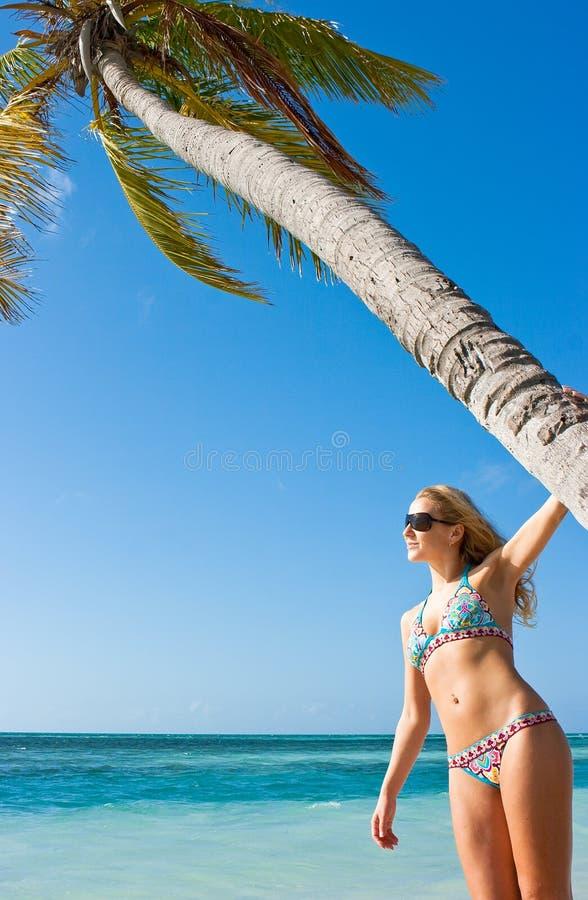 palmowa kobieta fotografia royalty free