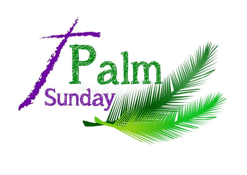 Palmowa Niedziela ilustracja wektor