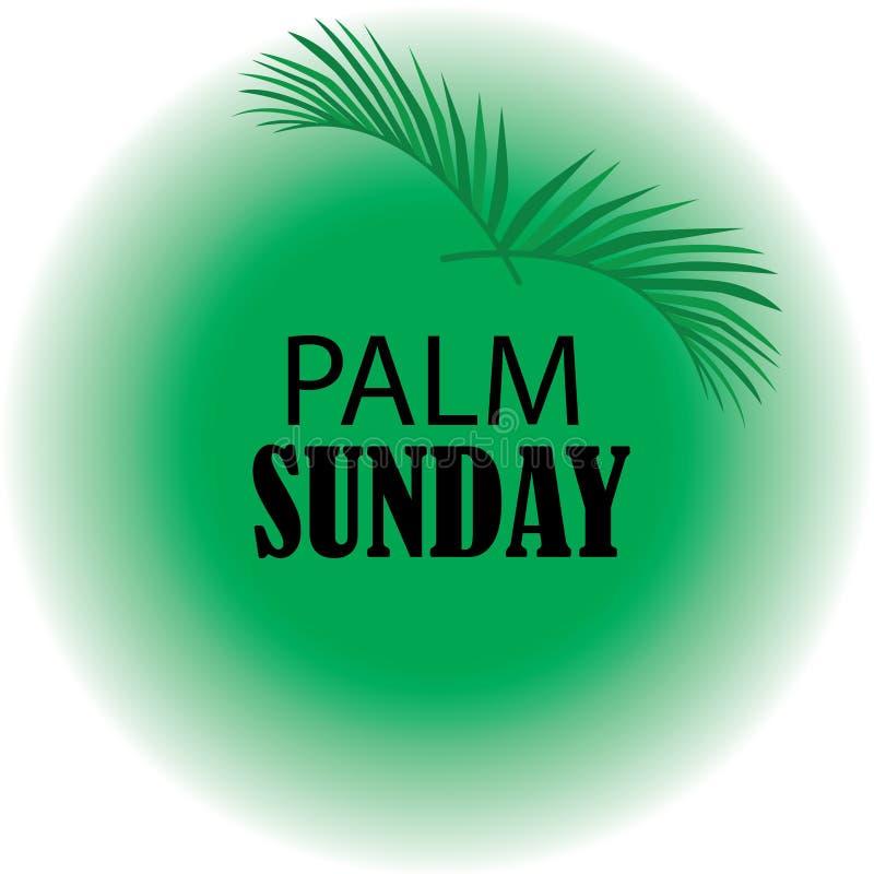 Palmowa Niedziela z realstick royalty ilustracja