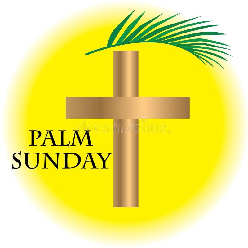 Palmowa Niedziela z realstick ilustracji
