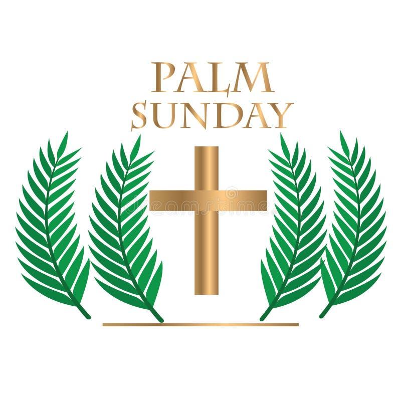 Palmowa Niedziela z realstick ilustracja wektor