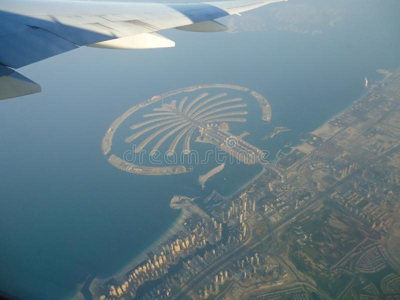 Palmowa wyspa Dubai fotografia royalty free