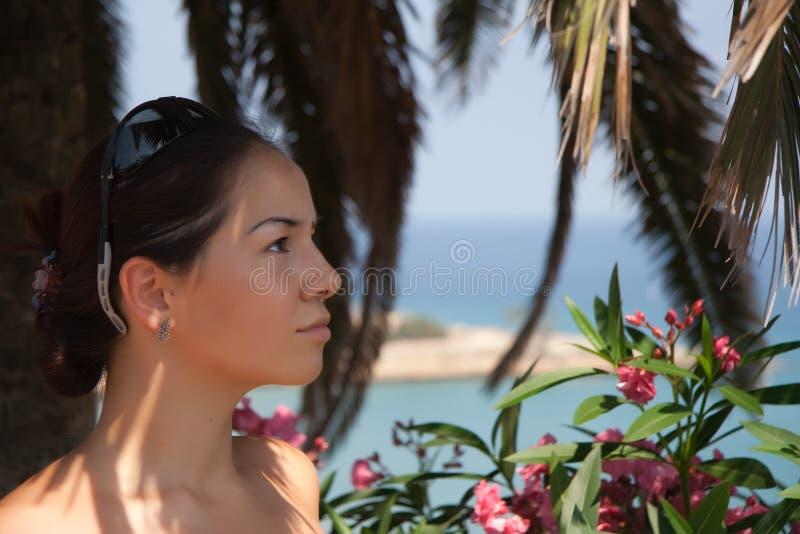palmowi ładni s kobiety potomstwa obrazy stock