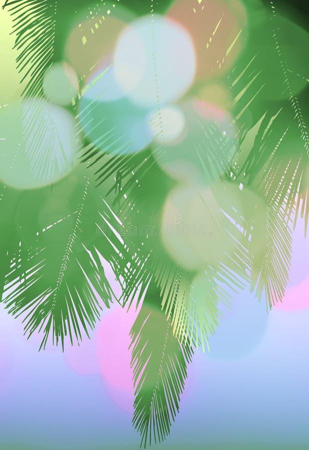 palmowy pastel ilustracja wektor