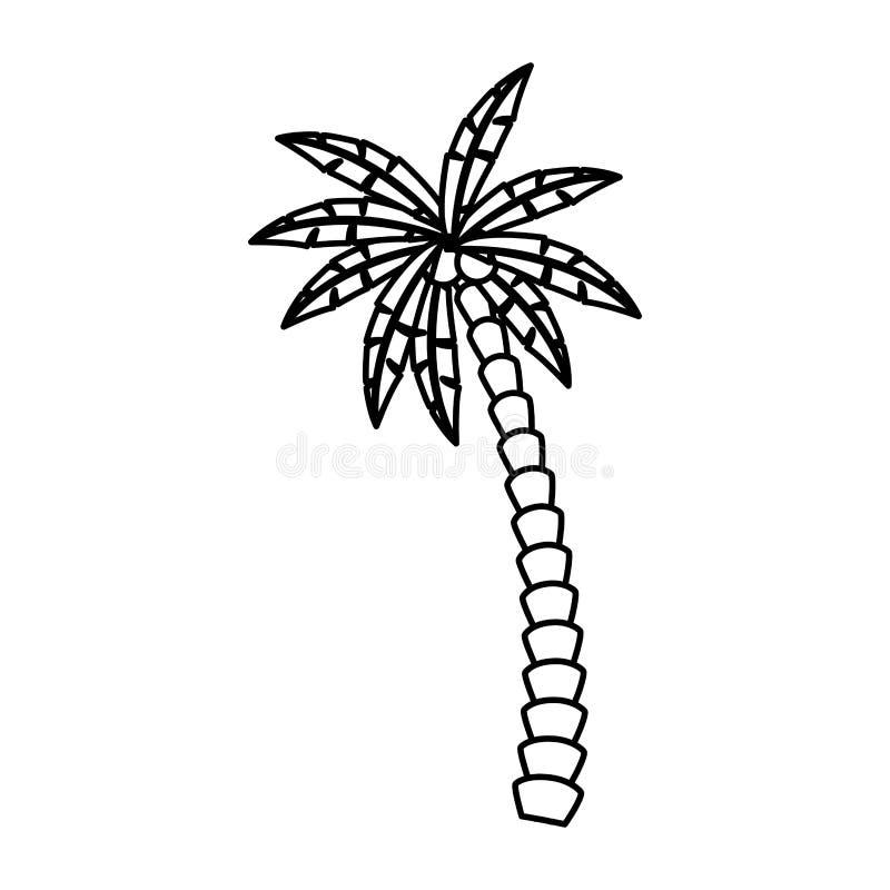 Palmpictogram stock illustratie