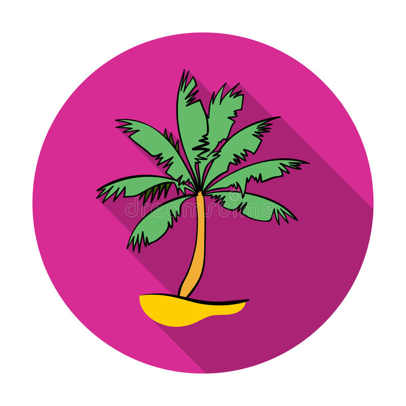 Palmpictogram in vlakke die stijl op witte achtergrond wordt geïsoleerd Het surfen de vectorillustratie van de symboolvoorraad royalty-vrije illustratie