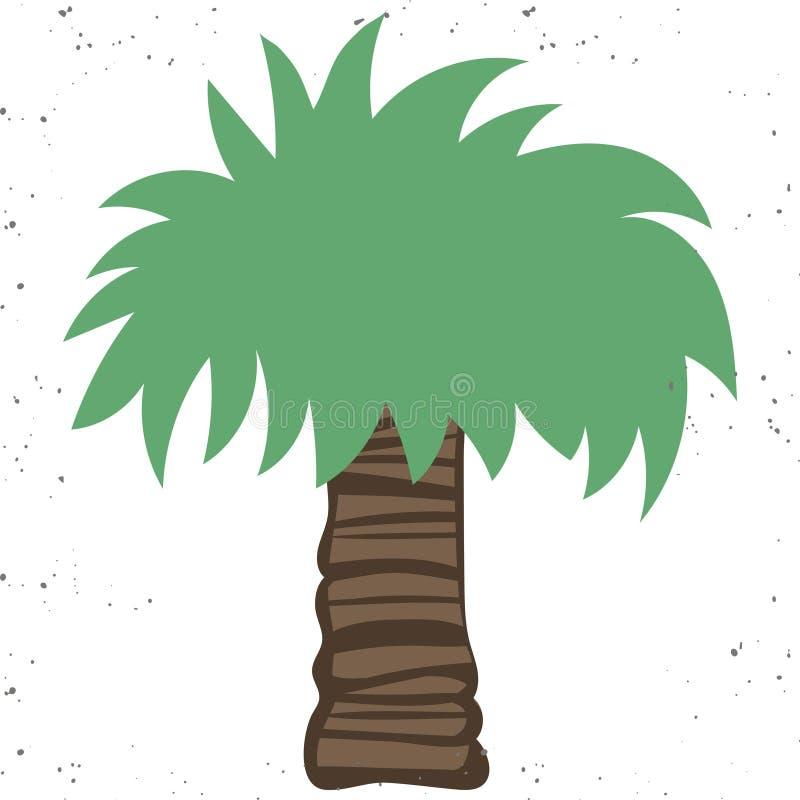 Palmpictogram Vlakke illustratie van palm vectordiepictogram op witte achtergrond wordt ge?soleerd stock illustratie