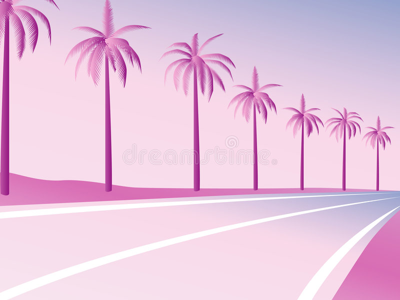 PalmRoad illustrazione di stock