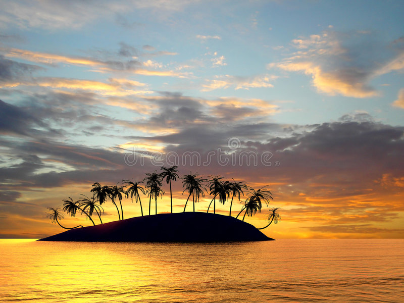 Download Palms stock illustration. Illustration of beach, clouds - 3545409