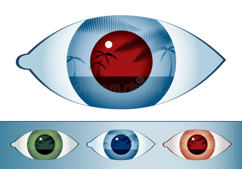 Palms&eye stock illustratie