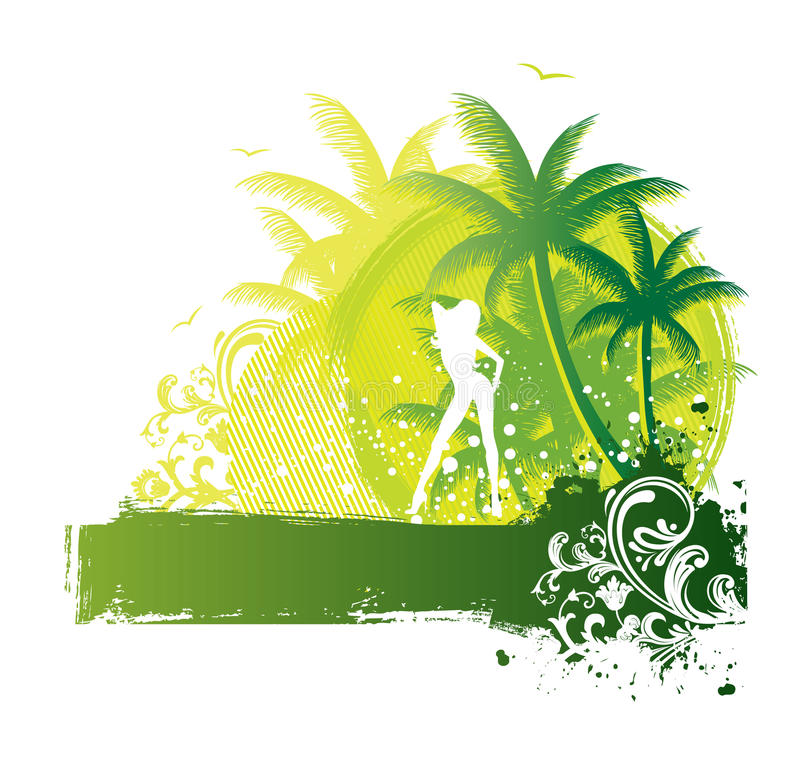 Download Palms banner stock vector. Illustration of abroad, holiday - 10030581