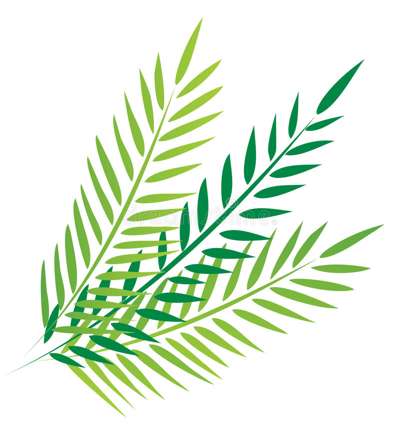 Palms in good friday stock illustration