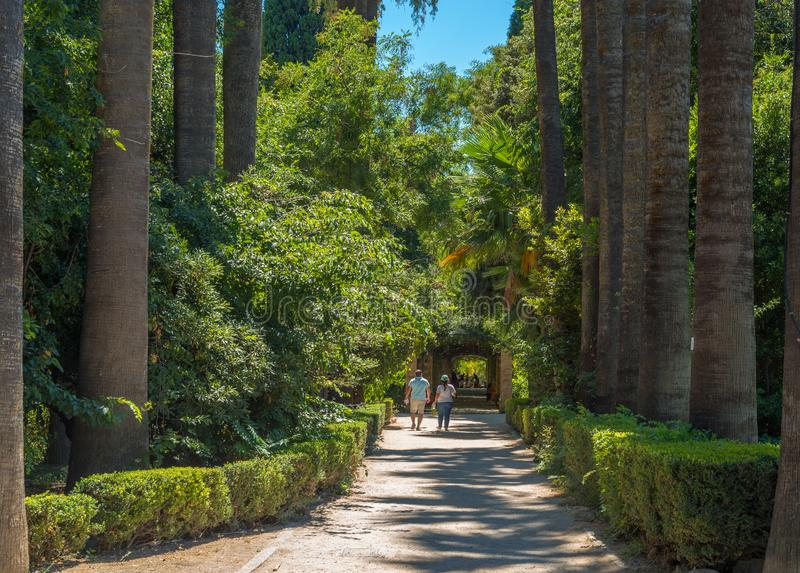Athens National Garden stock photography