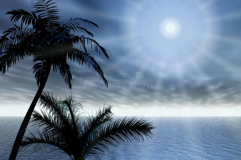 Download Palms And Rays Stock Images - Image: 2813914
