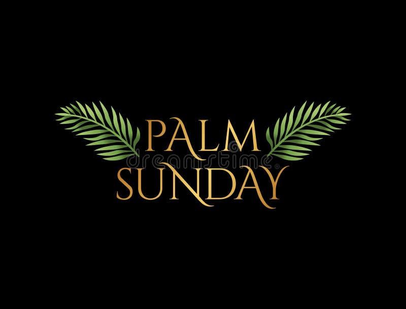 Palmsonntag Christian Holiday Theme Illustration lizenzfreie abbildung