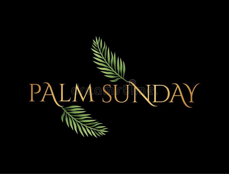 Palmsonntag Christian Holiday Theme Illustration vektor abbildung