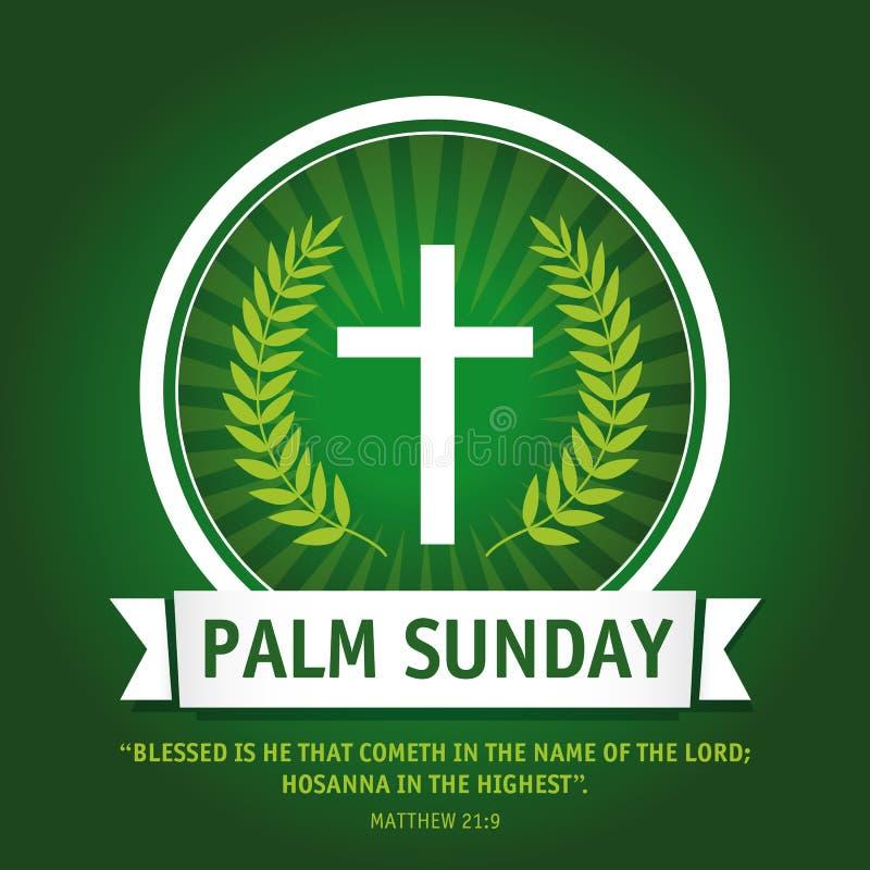 Palmsonntags-Logo lizenzfreie abbildung