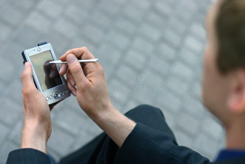 palmtop biznes zdjęcia stock