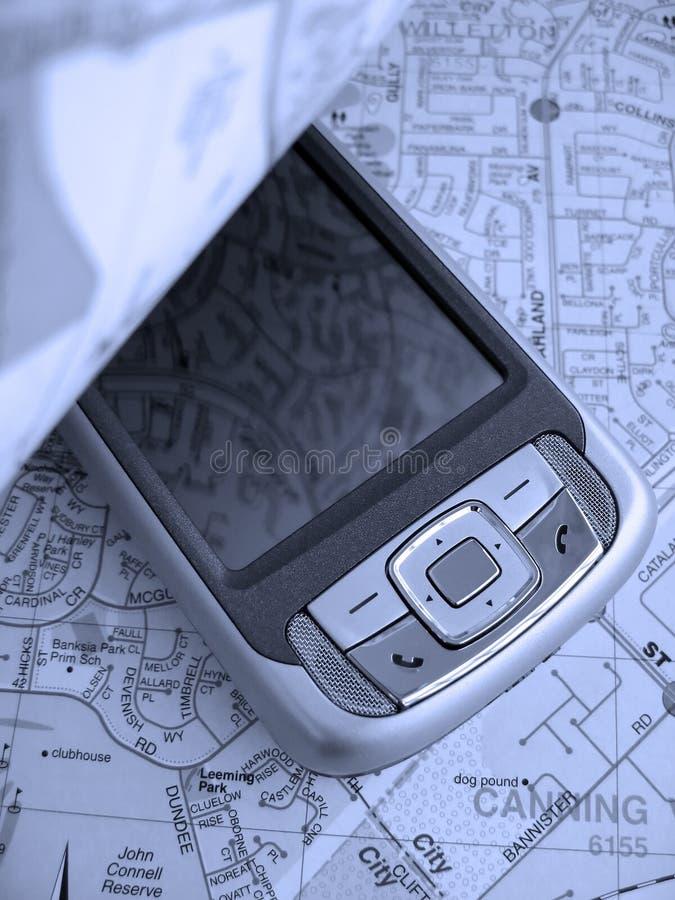 palmtop mapy. zdjęcie royalty free