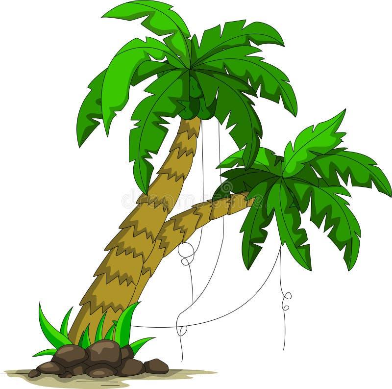 Palmträd för dig design stock illustrationer