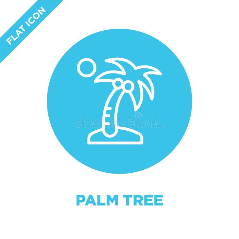 palmträdsymbolsvektor från säsongsamling Tunn linje illustration för vektor för palmträdöversiktssymbol Linjärt symbol för bruk p vektor illustrationer