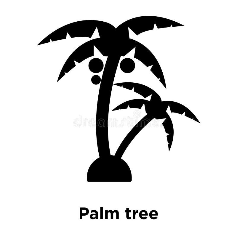 Palmträdsymbolsvektor som isoleras på vit bakgrund, logobegrepp royaltyfri illustrationer