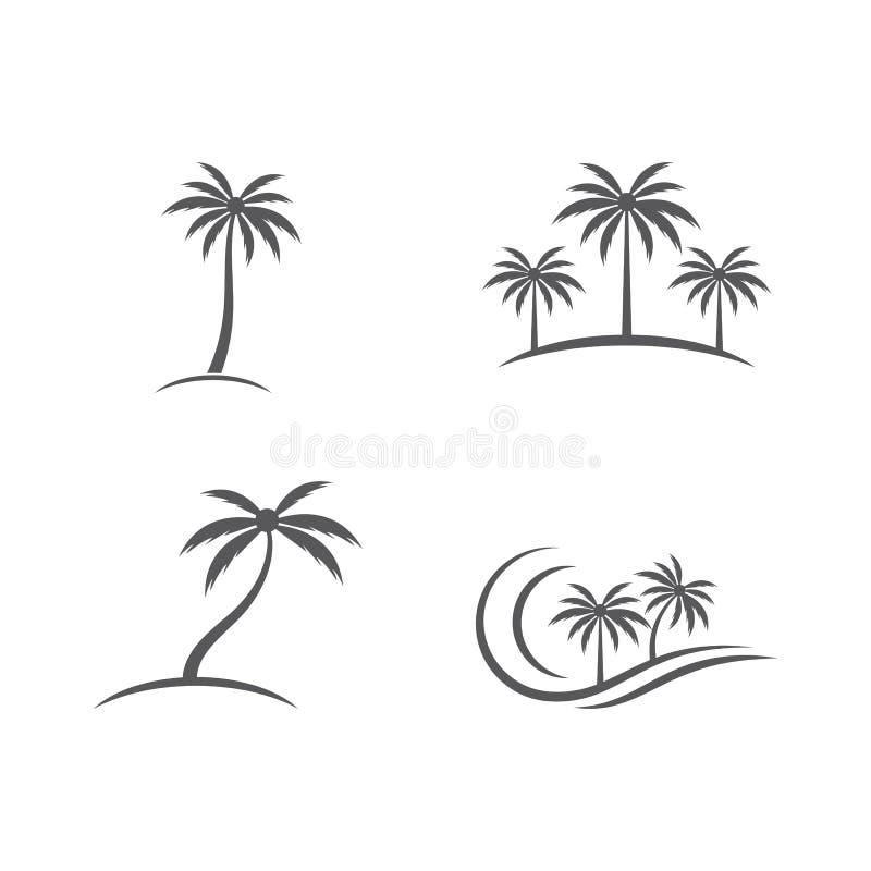 Palmtr?dsommarlogo vektor illustrationer