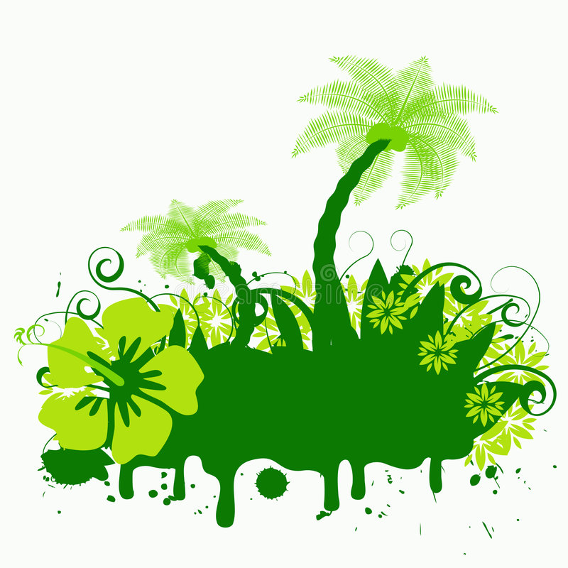 Palmtree astratto di vettore illustrazione di stock