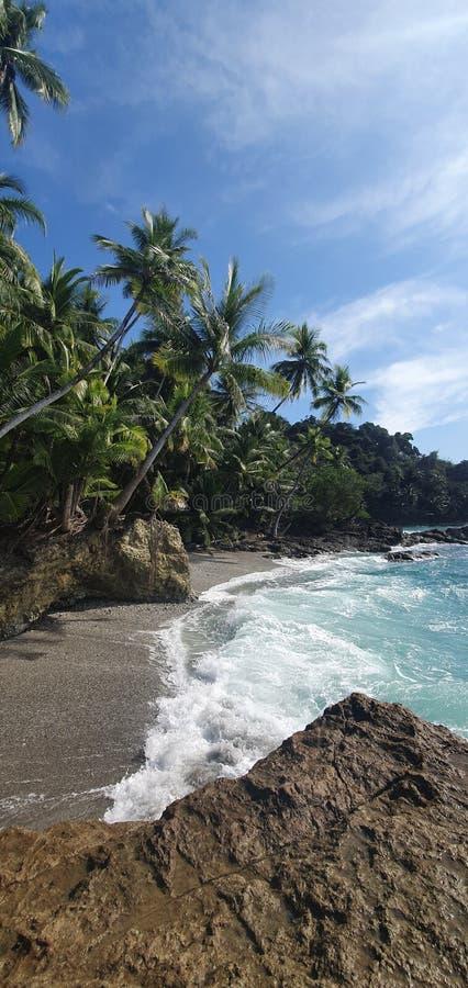 Amazing beaches in Panama stock photography