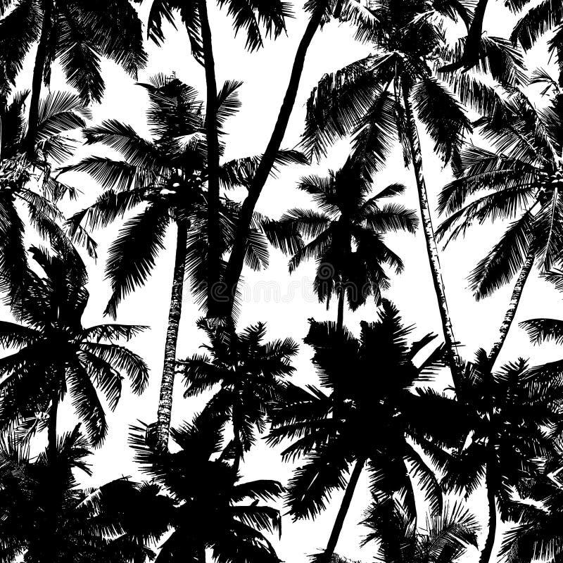 palmy bezszwowy deseniowy ilustracja wektor