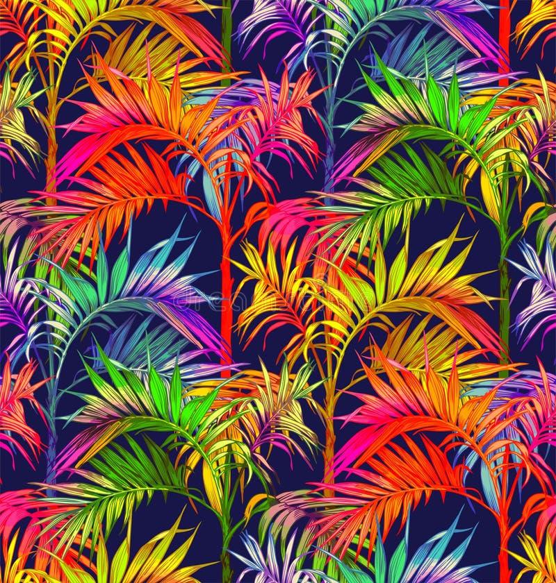 palmy bezszwowy deseniowy Tropikalni liści tła ilustracji