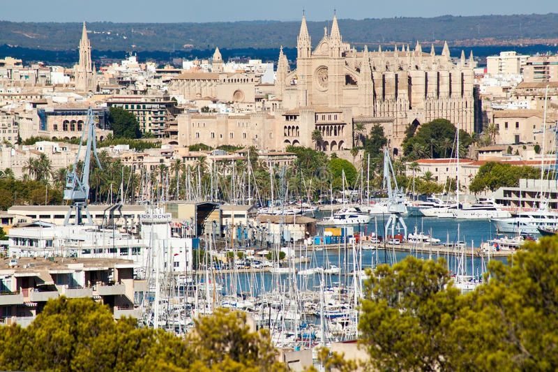 Palmy de Mallorca port obrazy stock