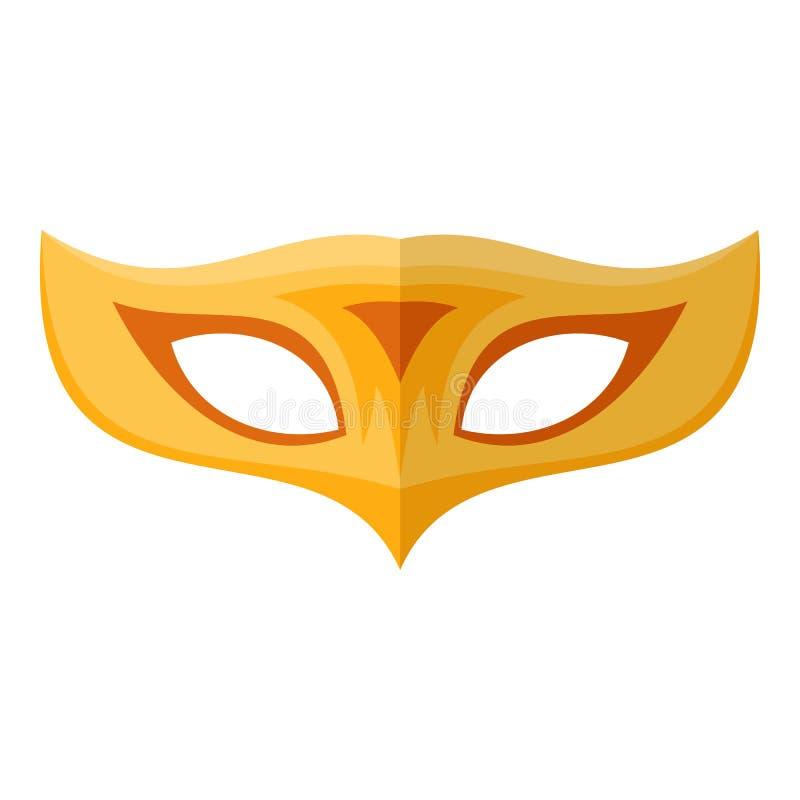 Palmy maskowa ikona, mieszkanie styl ilustracji
