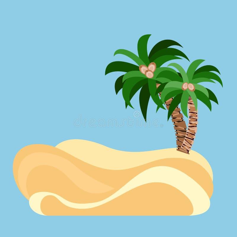 Palmy przy piaskiem royalty ilustracja