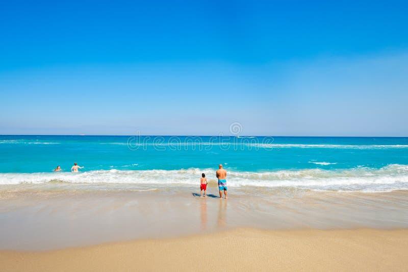 Palmy zachodni Plaża obrazy stock