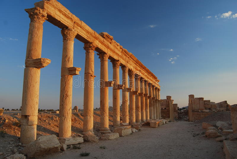 Palmyra-ruine photo libre de droits
