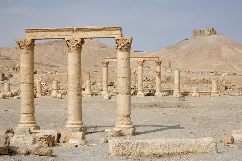 Palmyra - ruins of the 2nd century AD stock photography