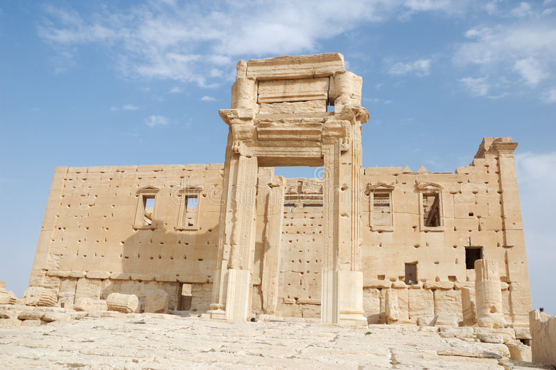 Palmyra - templo del belio fotografía de archivo