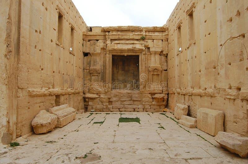 Palmyraruïnes - Syrië vóór Burgeroorlog stock foto