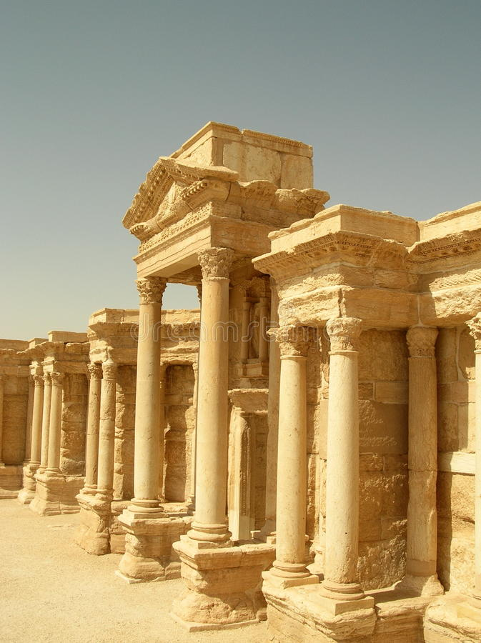 palmyrasyria teater arkivbilder