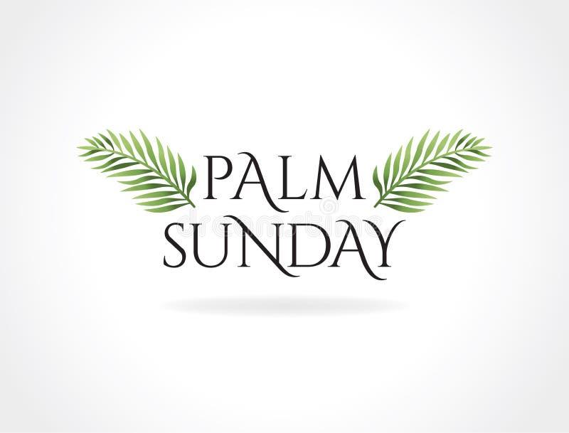 Palmzondag Christian Holiday Theme Illustration royalty-vrije illustratie