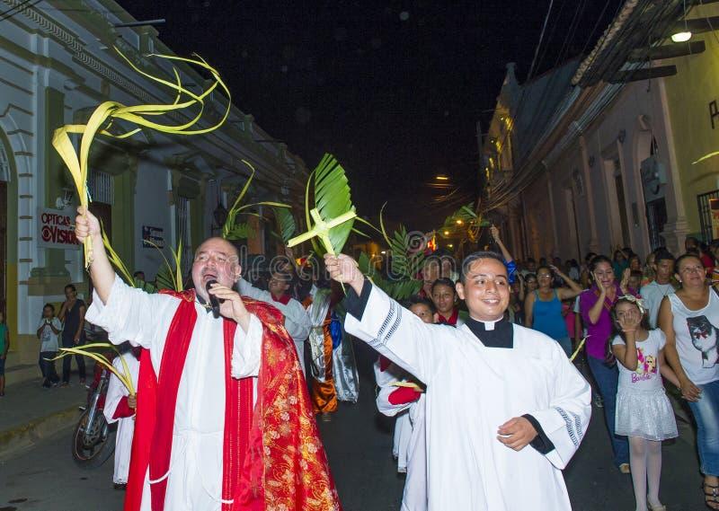 Palmzondag in Geanada Nicaragua royalty-vrije stock fotografie